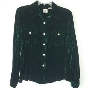 Gap Velvet Style Button Up Shirt